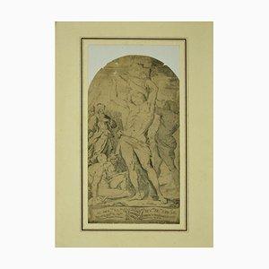 Gian Giacomo De Rossi, Heiliger Sebastian, 17. Jh., Radierung
