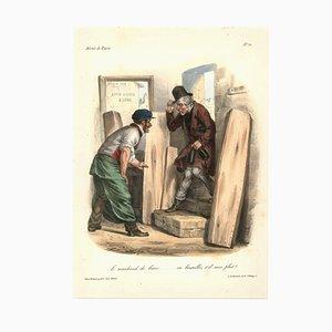 Jean Edme Pigal, Spiegel aus Paris, 1800er, Lithographie