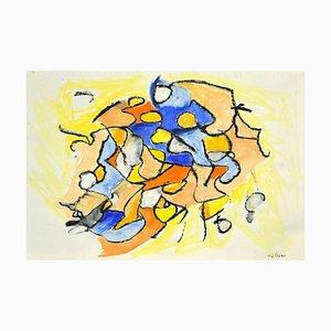 Giorgio Lo Fermo, Composition Géometrique Abstraite, 2020, Technique Mixte sur Papier