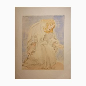 Emile Antoine Bourdelle, Prayer of Christ, Early 20th-Century, Watercolor