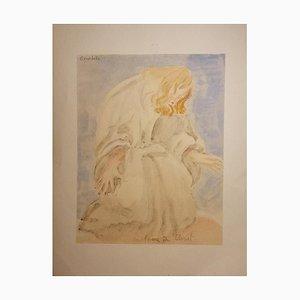 Emile Antoine Bourdelle, Prière du Christ, Début 20ème Siècle, Aquarelle