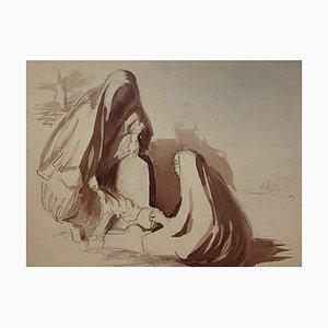 Hingabe, frühes 20. Jahrhundert, Aquarell