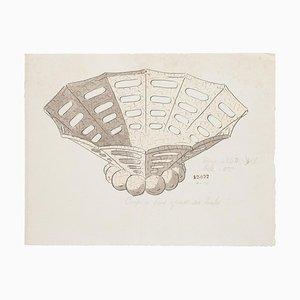 Chinesische Tasse, Tinte & Aquarell, 19. Jh