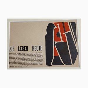 Oscar Dalvit, Einladung zur Ausstellung, 1953, Holzschnitt