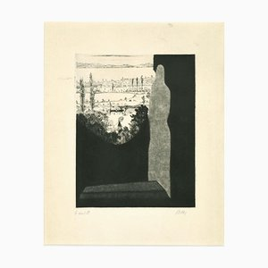 Robert Naly, Figure in the Landscape, Mid-20th Century, Etching