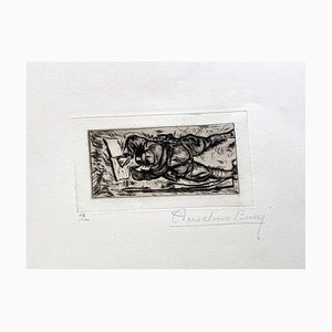 Anselmo Bucci, Militant, 1917, Etching