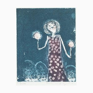 Lights in the Night, 1960er, Lithographie