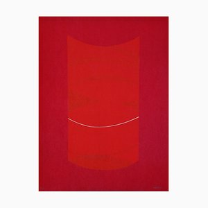 Lorenzo indrimi, Red one, 1970s Litografia
