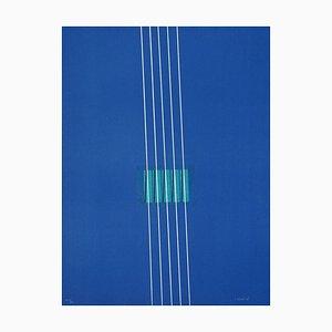 Litografia di Lorenzo indrimi, viola, anni '70