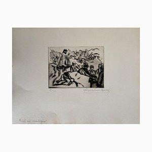 Acquaforte, Anselmo Bucci, Militant, 1914