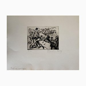 Anselmo Bucci, Militant, 1914, Etching