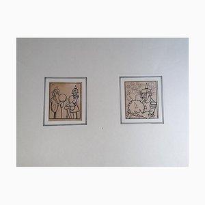 Filiberto Scarpelli, Generäle, 1920er, Tinte