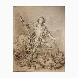 Saint Michael, Frühes 20. Jahrhundert, Bleistift und Kohle