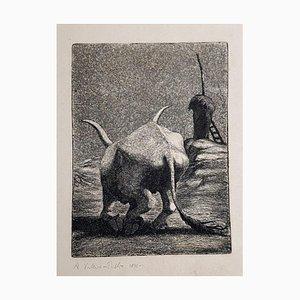 Stier, 1946, Radierung