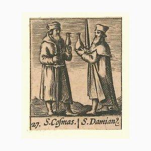 Hieronymus Verdussen, Saints Cosma and Damian, 1640er, Radierung