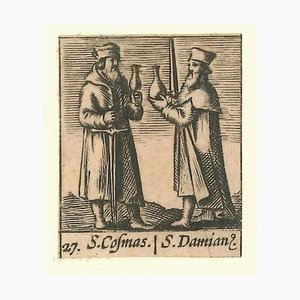 Hieronymus Verdussen, Saints Cosma and Damian, 1640s, Etching