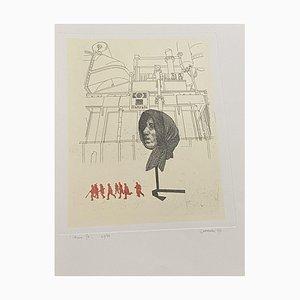 Giuseppe Guerreschi, Composition, 1974, Etching