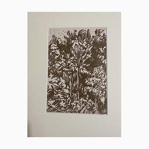 Francesco Rosi, Landschaft, Lithographie des 20. Jahrhunderts