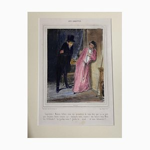 Litografia Paul Gavarni, Les Lorettes, XIX secolo
