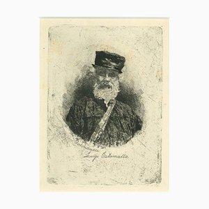 Luigi Calamatta, Autoritratto, XIX secolo, Incisione