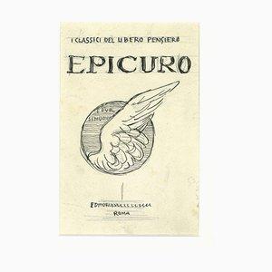 Gabriele Galantara, Epicuro, Tusche auf Papier