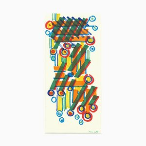 Umberto Maria Casotti, Composition, XXe siècle, Aquarelle