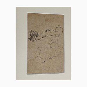 Beppe Curzi, Figur, 1940er, Bleistift auf Papier