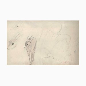Ernest Rouart, Roe Sketches, 1890s, Pencil on Paper