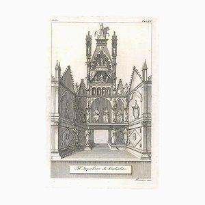 Augusto Fornari, Das Grab von Ladislao, 1800er Jahre, Radierung