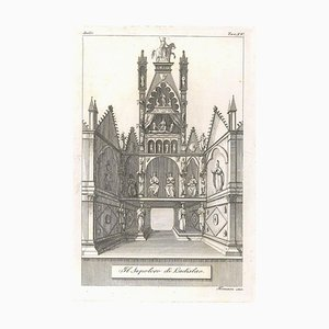 Augusto Fornari, The Sepulchre of Ladislao, 1800s, Etching