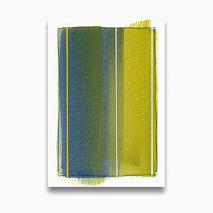Matthew Langley, Kartenfragment, 2015, Acryl an Bord