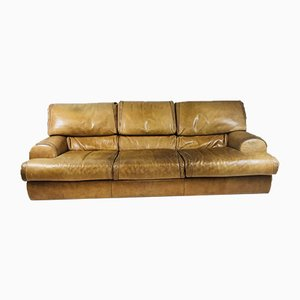 Vintage Italian Cognac Leather Sofa from Baxter