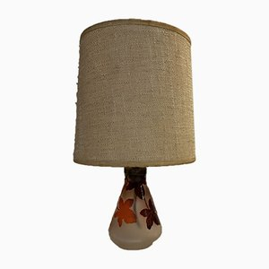Vintage Glas Tischlampe von La Rochere