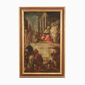 Antica pittura raffigurante Gesù ed Erode, XVII secolo