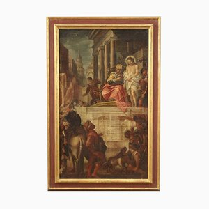 Antike Italienische Malerei Jesus und Herodes, 17. Jahrhundert