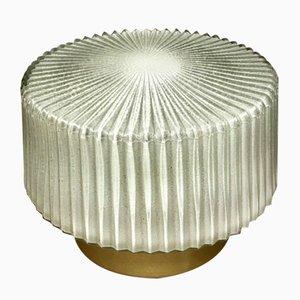 Mid-Century Glas und Aluminium Deckenlampe, 1960er