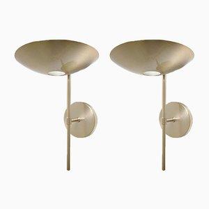 Chandeliers Vintage en Laiton et Bronze par Leonardo Marell pour Estiluz, Set de 2