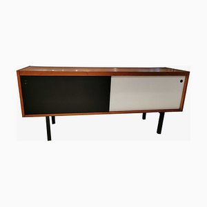 Vintage Swedish White and Black Sideboard, 1970s