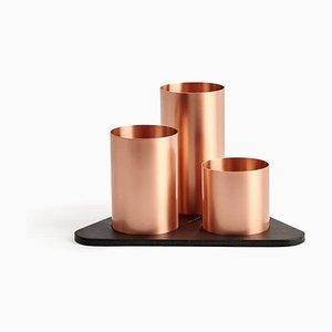Copper Manhattan Desktop Organizer by Kerem Aris for Uniqka