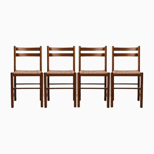 Mid-Century Rush Dining Chairs, Set of 4