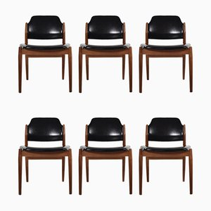 Model 462 Dining Chairs by Arne Vodder for Sibast, 1960s, Denmark, Set of 6