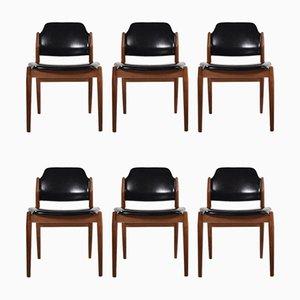 Modell 462 Esszimmerstühle von Arne Vodder für Sibast, 1960er, Dänemark, 6er Set
