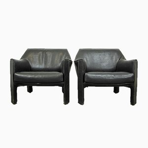 CAB Armchairs by Mario Bellini for Cassina, 1970s, Set of 2