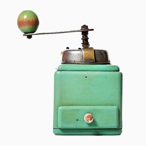 Mint Colored Manual Coffee Grinder, 1930s