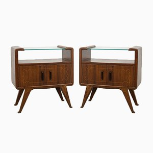 Bedside Tables in the Style of Gio Ponti, 1940s, Set of 2