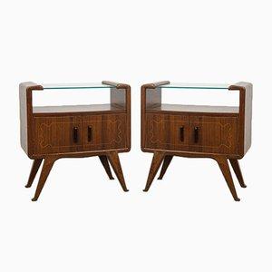 Tables de Chevet dans le Style de Gio Ponti, 1940s, Set de 2