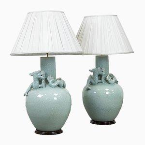 Lampes de Bureau, Chine, 1930s, Set de 2