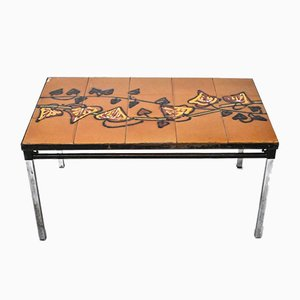 Tiled Coffee Table from Adri Belgique, Belgian, 1960s