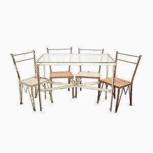 Mesa de jardín de Gio Ponti para Casa e Giardino, años 30. Juego de 5