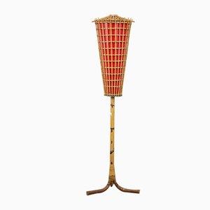 Lampe en Bambou, 1950s